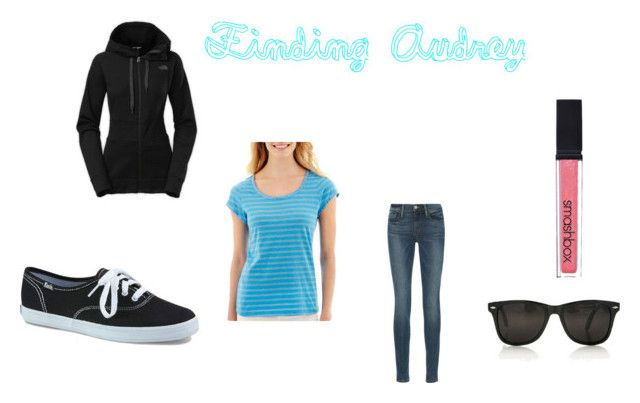 """Finding Audrey"" by chrissytalia on Polyvore featuring Frame Denim, Keds, Smashbox, The North Face and i Jeans by Buffalo"