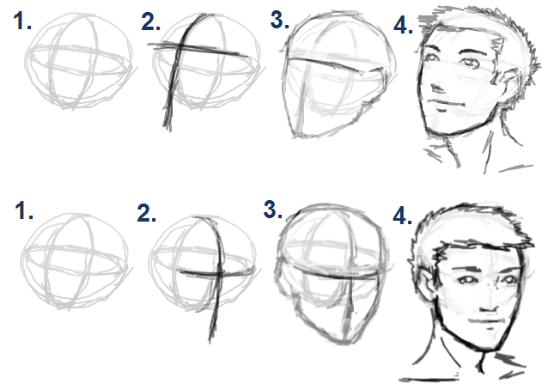 Face Angles Of the face will change, | Sketches