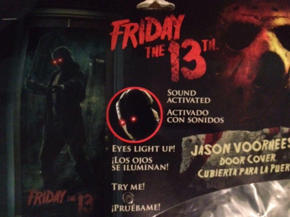 NIP Halloween Décor Friday the 13th Jason Voorhees Door Cover w Light \u0026 Sound & NIP Halloween Décor Friday the 13th Jason Voorhees Door Cover w ... Pezcame.Com