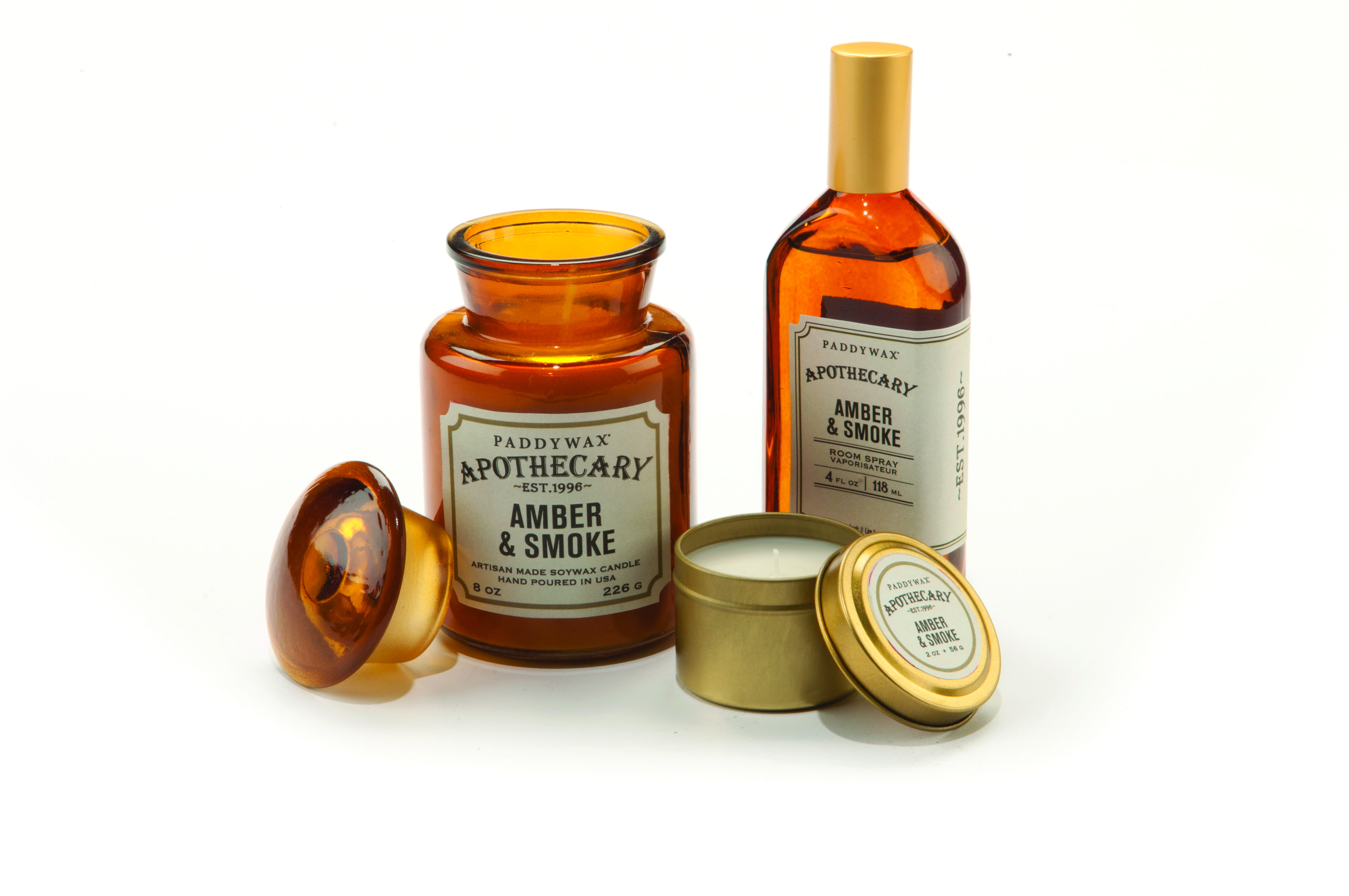 Paddywax Apothecary Amber and Smoke Candle. Available from: http://www.rooi.com/product/paddywax-apothecary-candle