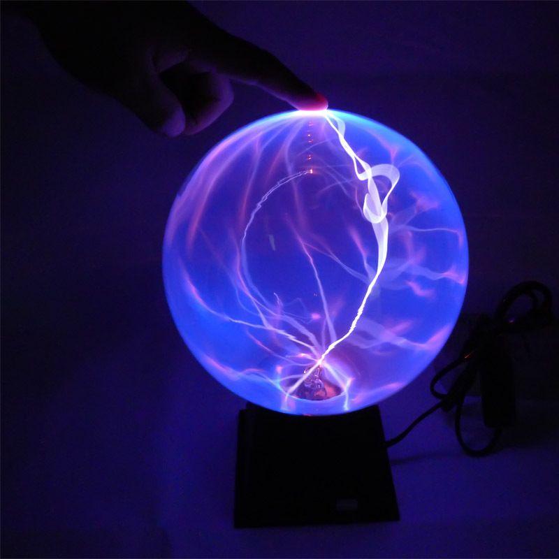6 5 3 Inch Plasma Ball Sphere Lamp Magic Plasma Globe Electric Ball Nebula Thunder Ball Light Lighting Best Gift For Frien Plasma Globe Ball Lights