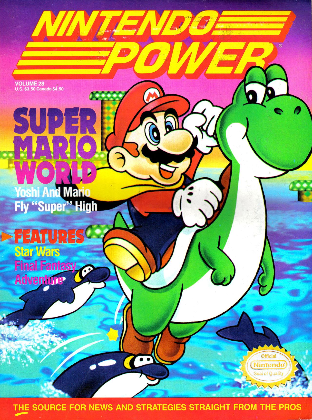List Of Nintendo Power Volumes Video Game Magazines Super Mario World Super Mario