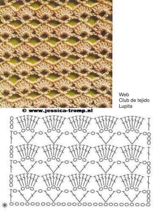 Patrón de punto a crochet | Puntos crochet | Pinterest | Crochet ...