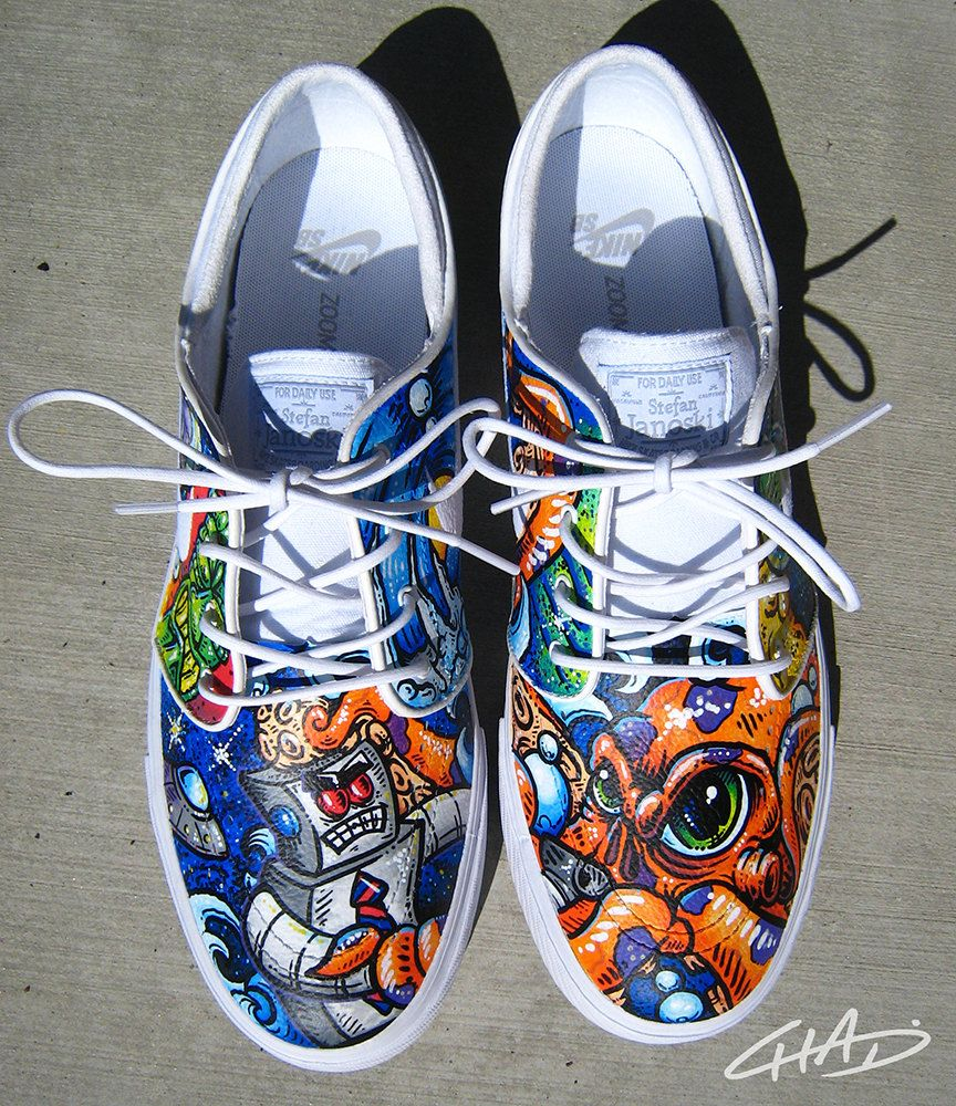 Worlds best custom hand painted shoes nike adidas vans and