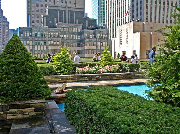 Secret Rooftop Garden Atop The British Empire Building At Rockefeller Center