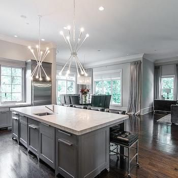 Gray Kitchen Cabinets  Ceilings  Pinterest  Grey Kitchen Awesome Kitchens With Grey Cabinets 2018