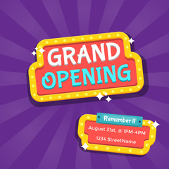 Luck Photos Images Assets Adobe Stock Grand Opening Banner Banner Design