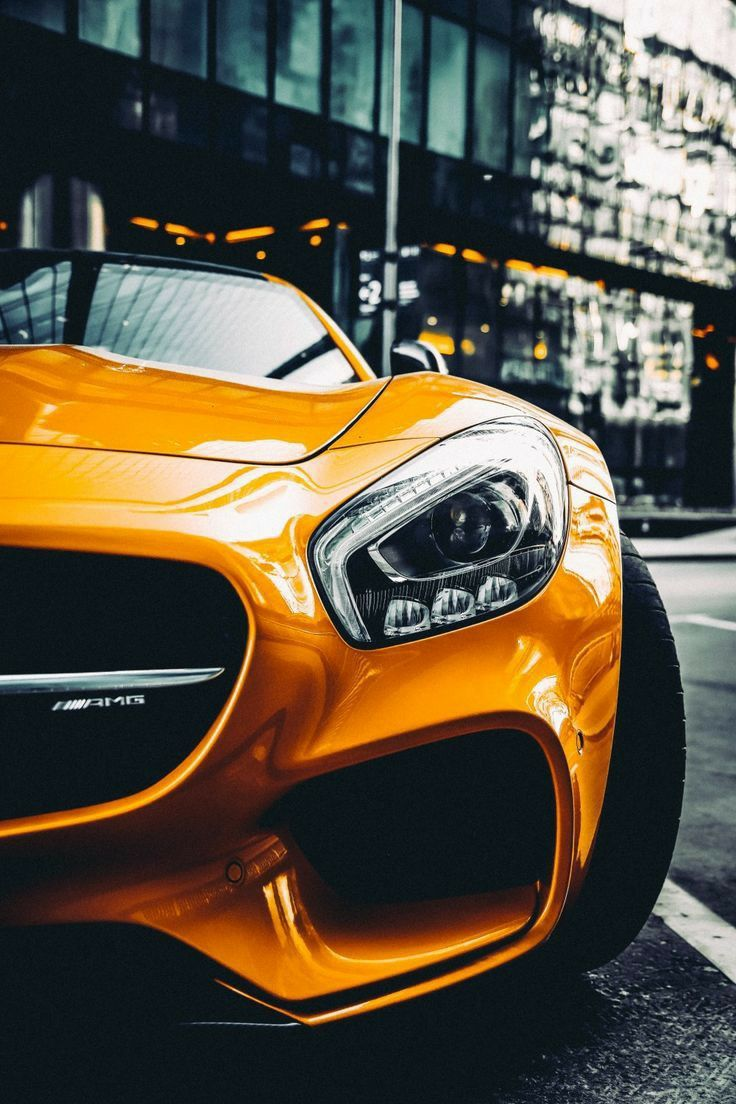 Yellow AMG GT Home Screen HD Wallpaper 4K for Android in ...