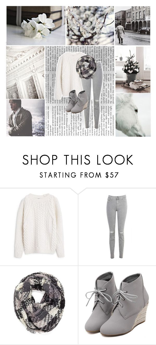 """❅ dreaming of a white christmas ❅"" by weepingwinchesters ❤ liked on Polyvore featuring MANGO, J Brand, WithChic, white, supernatural and MerryChristmas"