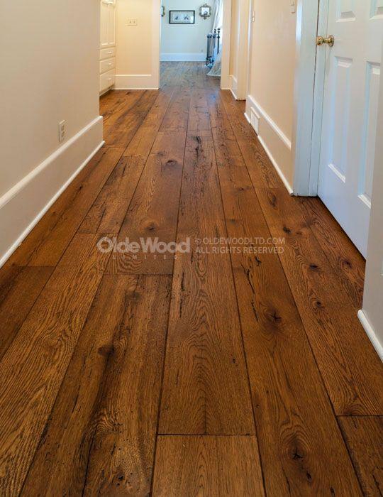Wide Plank Hardwood: Reclaimed Resawn Oak Floor