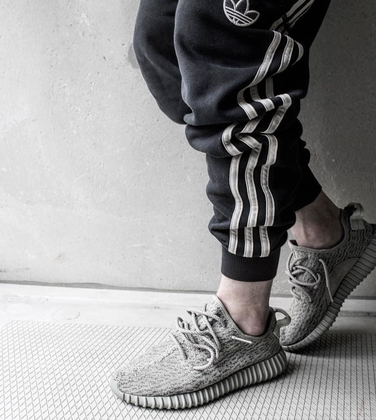 Adidas styling. Feat Yeezy Boosts 350 V1