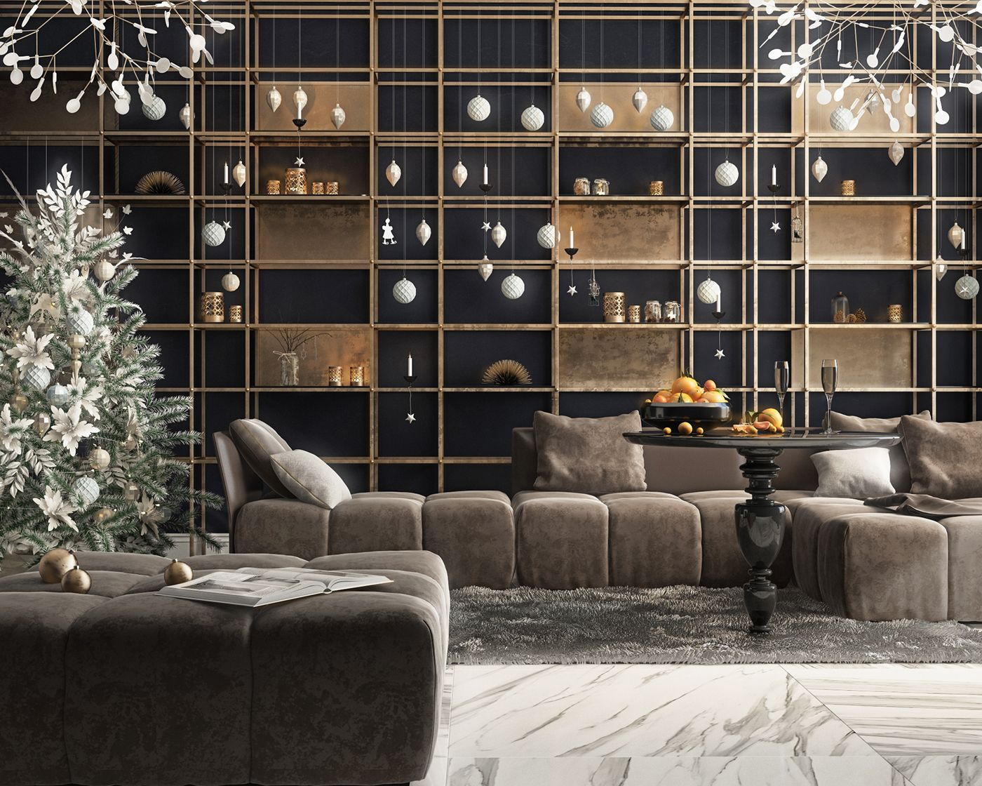 New year interior ⭐️ on Behance