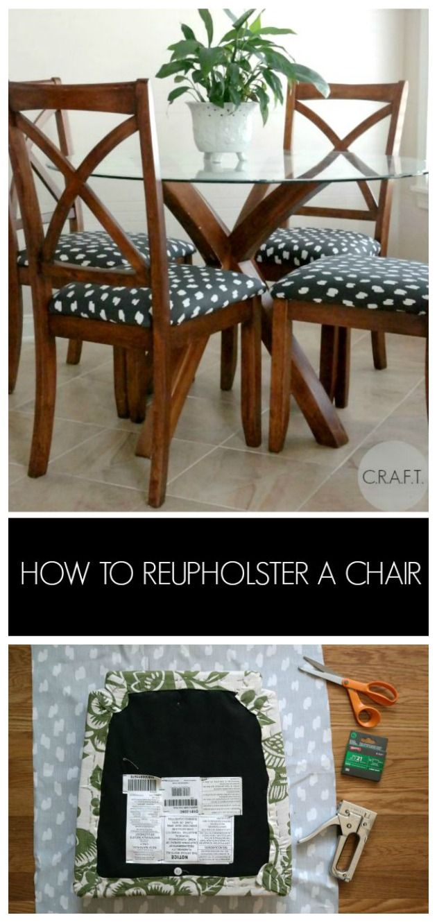 How To Reupholster A Chair Use Vinyl Or Pleather For Easy Cleaning Redo ChairsDining Room