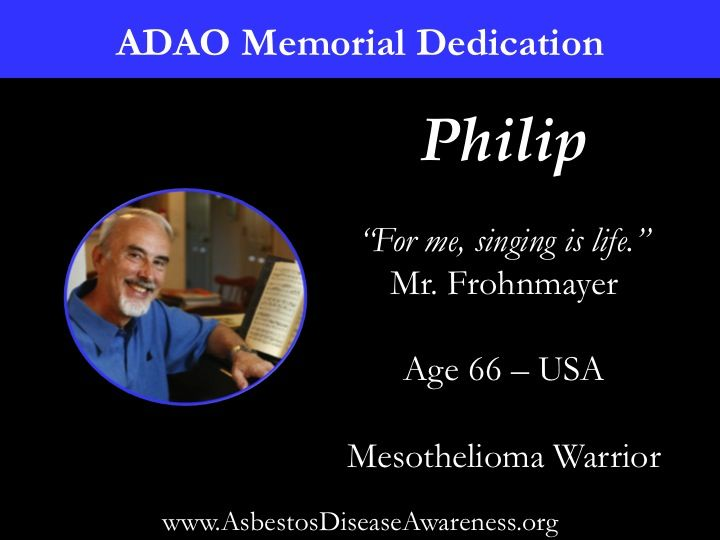 Remembering Philip who lost his courageous mesothelioma battle.