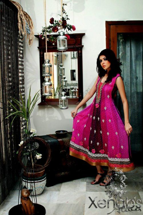 Pink Frock Party wear & Formal Outfits 2013 by Xenab's Atelier