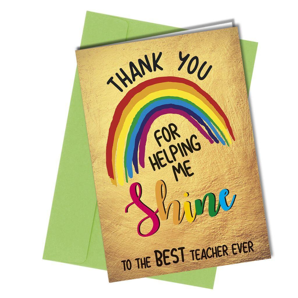 Teacher Card Christmas Teacher card Leaving Card Thank You