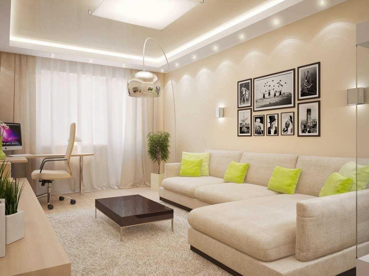 вариант необычного дизайна гостиной комнаты 19-20 кв.м ...