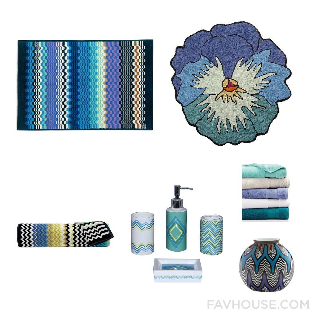 Room Things With Missoni Bath Rug Blue Bath Mat Missoni Home Bath - Missoni black and white bath mat for bathroom decorating ideas