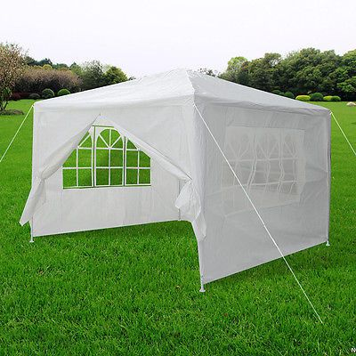 33657 Farm Garden 10 X10 Outdoor Canopy Party Wedding Tent White Gazebo Pavilion W 4 Side Walls Buy It Now Only 50 9 10 X10 Outdoor With Images Canopy Outdoor