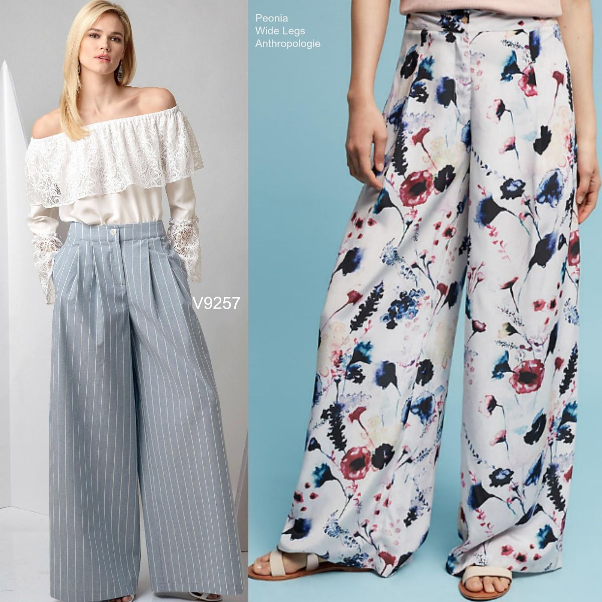 Sew The Look Vogue Patterns V9257 Wide Leg Pants Sewing Pattern