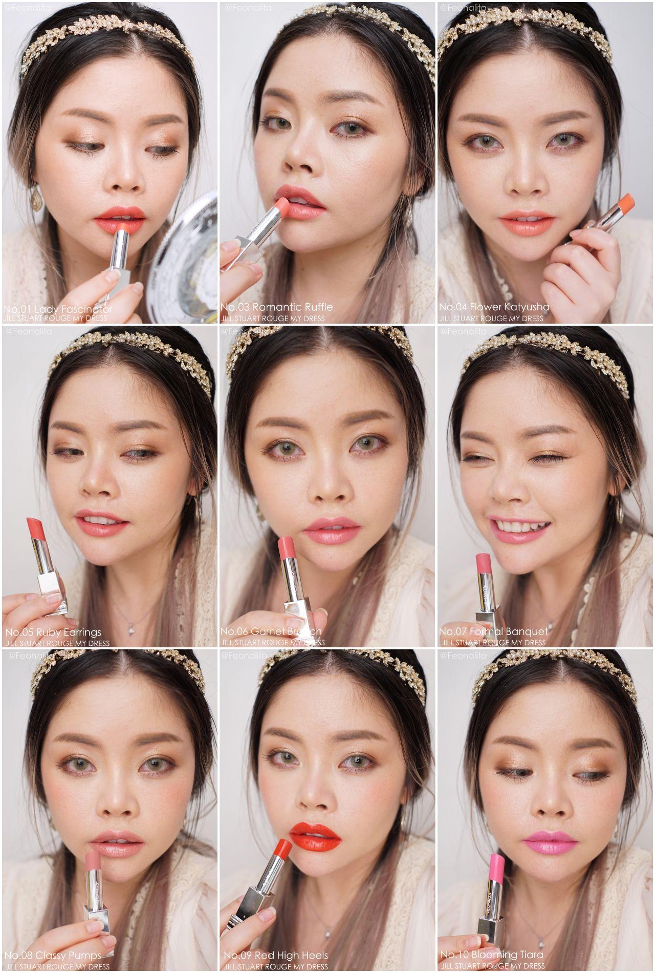 Jill Stuart Rouge My Dress Asian Makeup Pinterest Lipstick Beauty Lip Matte 04 Rosy Blush Swatches Color Make Up