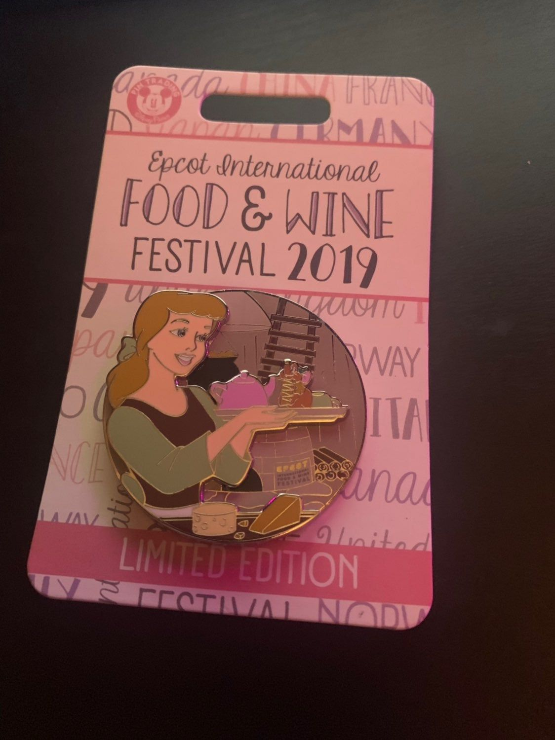 Disney Food Wine Festival Cinderella Pin Wine Festival Disney Food Disney Pins