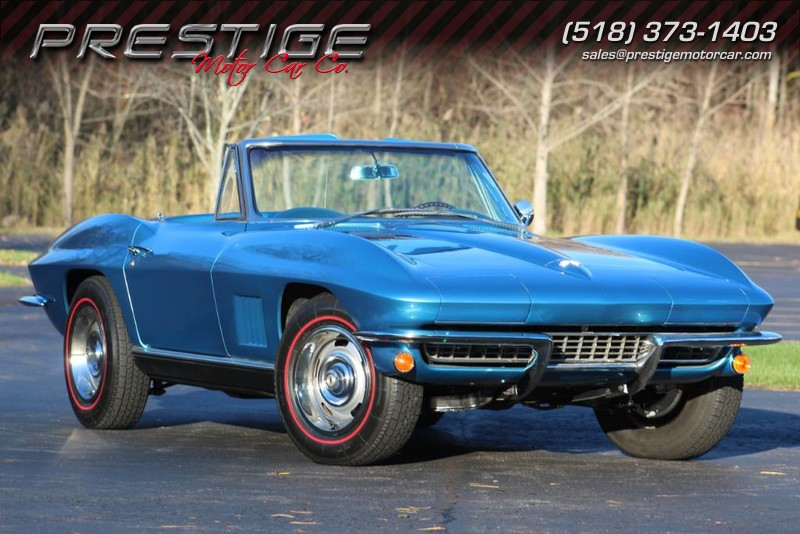 1967 Corvette Convertible For Sale In New York Marina Blue Blue Convertible S Matching Corvette Convertible Classic Cars Chevrolet