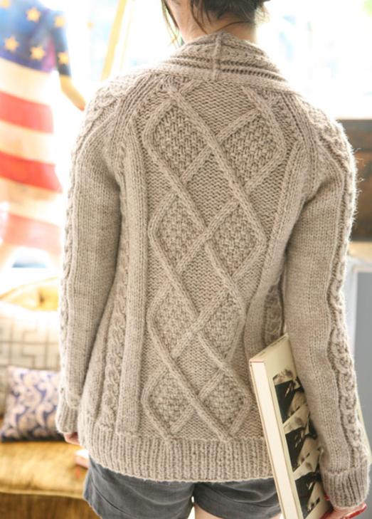 Aidez Fitted Cardigan   Jumper knitting pattern, Aran ...