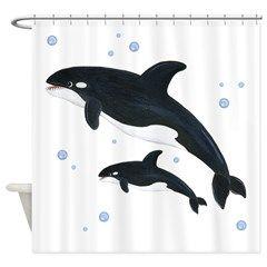 Killer Orca Whale Shower Curtain 4999