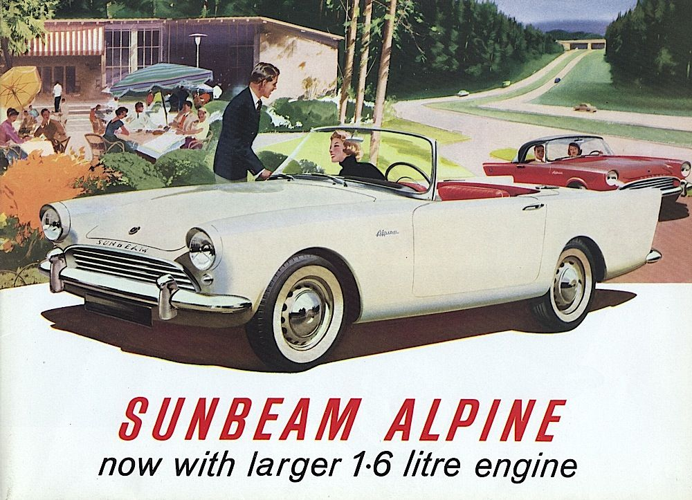 Early 1960s Sunbeam Alpine, Sporty British Convertable
