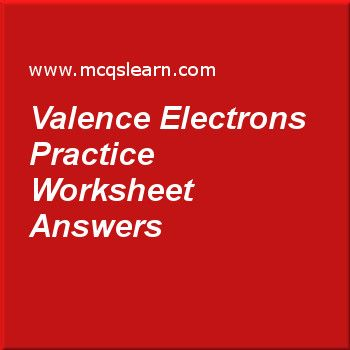 Valence Electrons Practice Worksheet Answers Teaching Pinterest