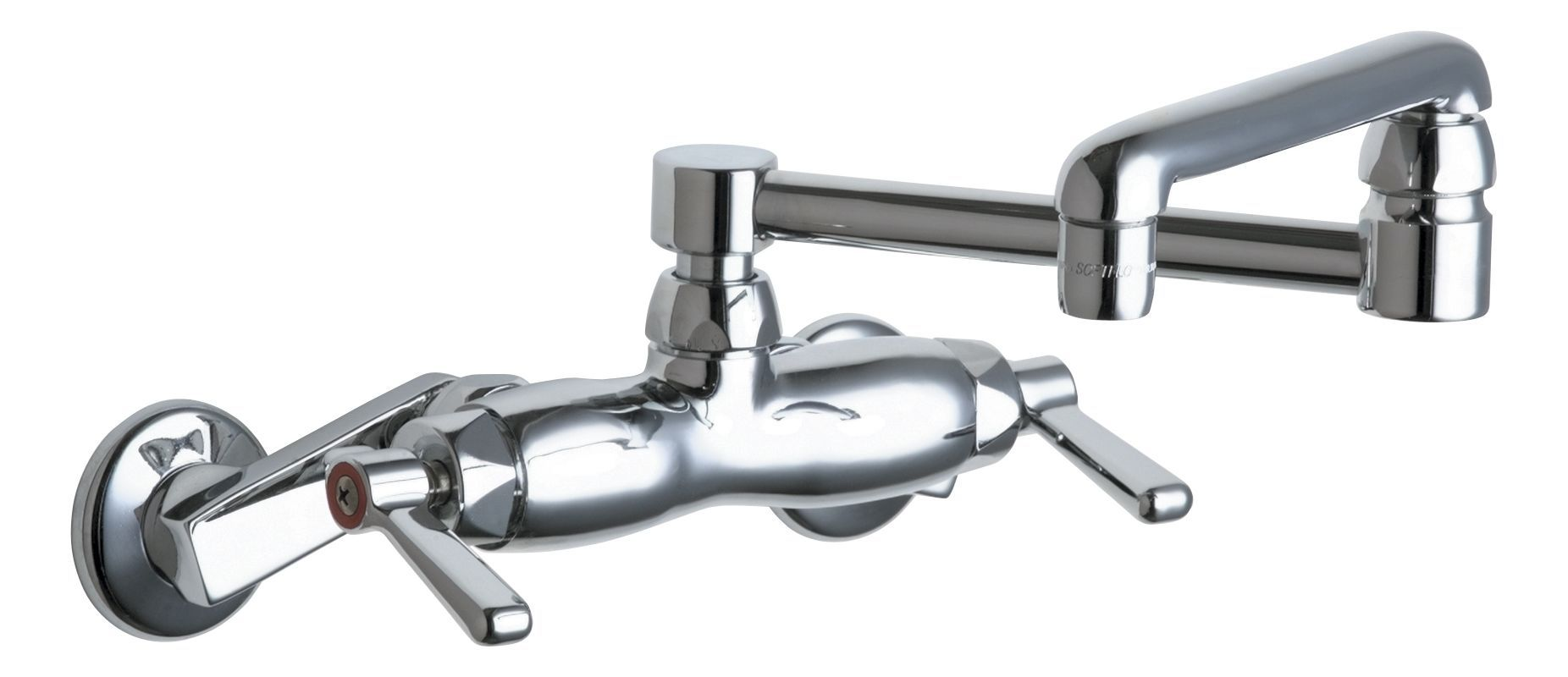 Chicago Faucets 445-DJ13AB Wall Mounted Pot Filler Faucet with Lever ...