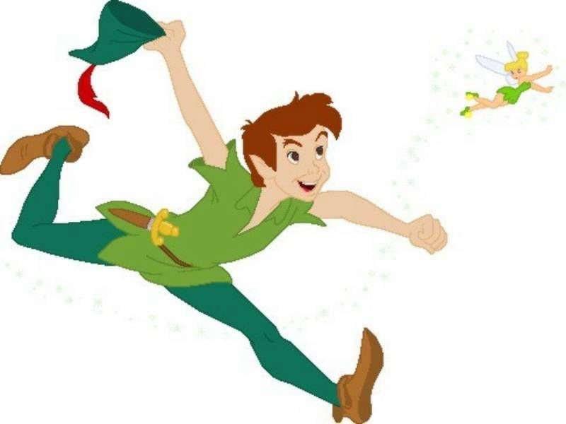 Gallery For Tinkerbell And Peter Pan Flying
