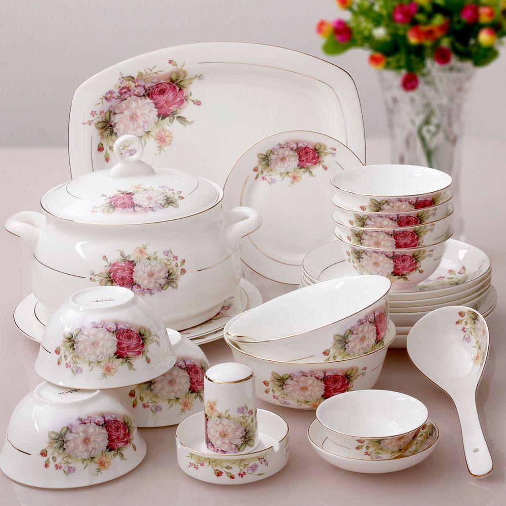 Chinese Porcelain Tableware Set In 2020 Geschirr Essgeschirr Kuche