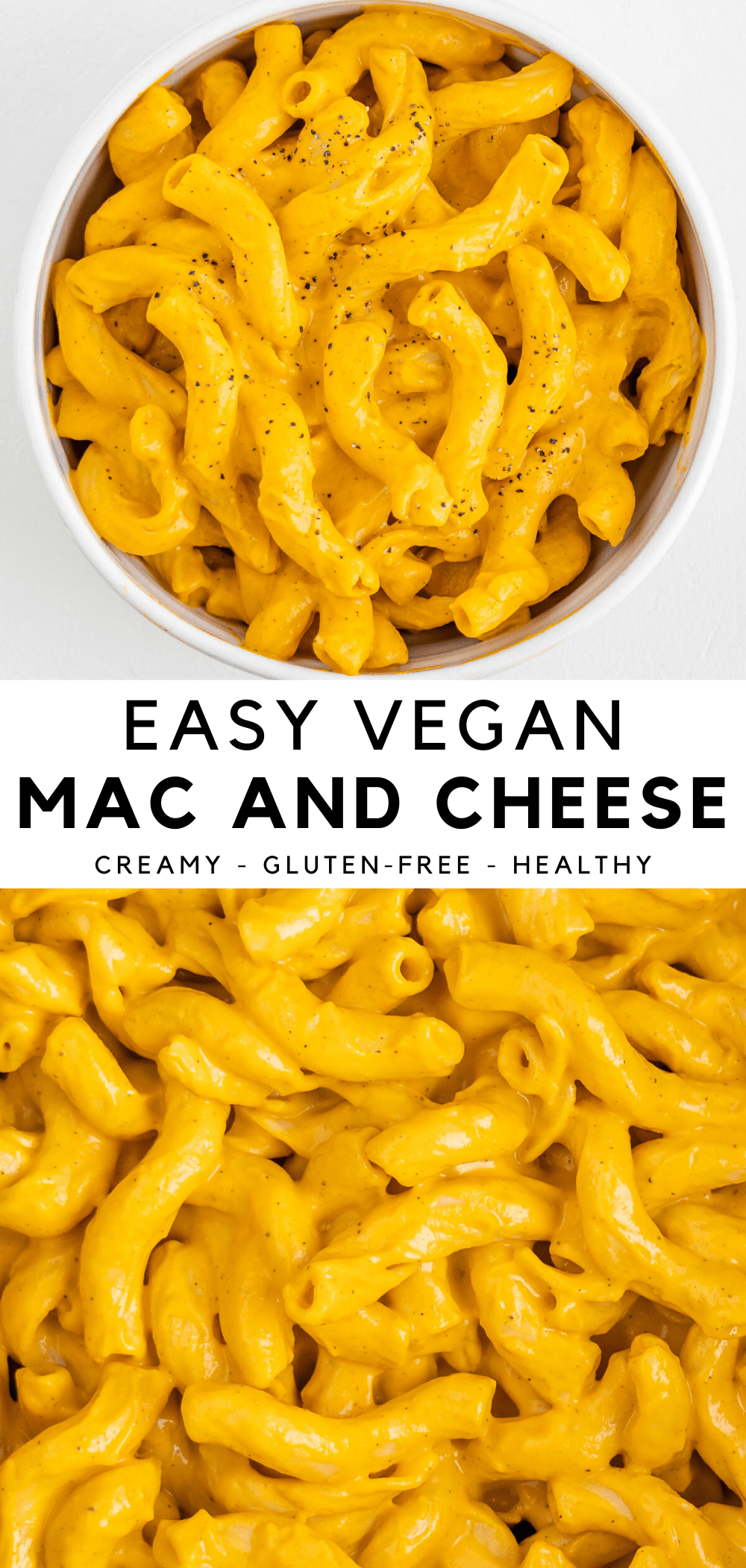 The Best Vegan Mac And Cheese Recipe It S Easy Delicious And Made With Healthy Ingredients Like Carrots Cashews And Nutritional Yeast This Dairy Free And In 2020