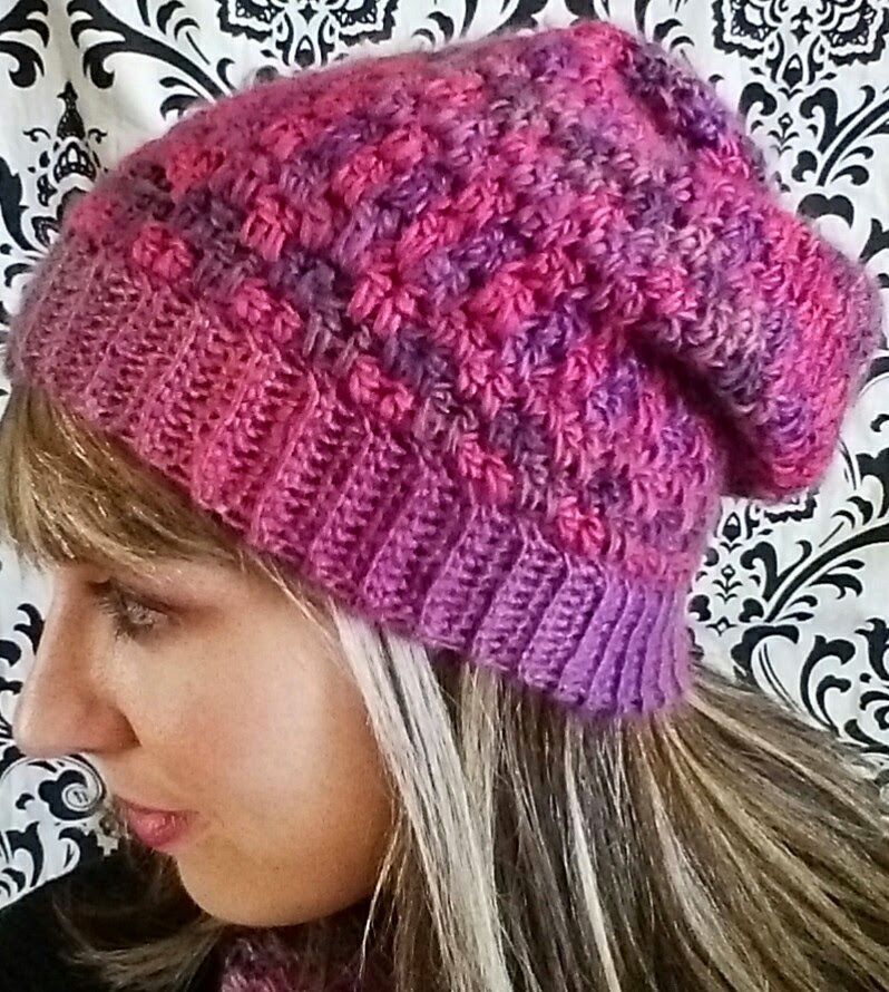 I finally got around to writing up my Double Drop Slouchy hat pattern that  matches the cowl pattern I posted earlier! This slouchy hat uses a drop  stitch ... b19dc5fcb26