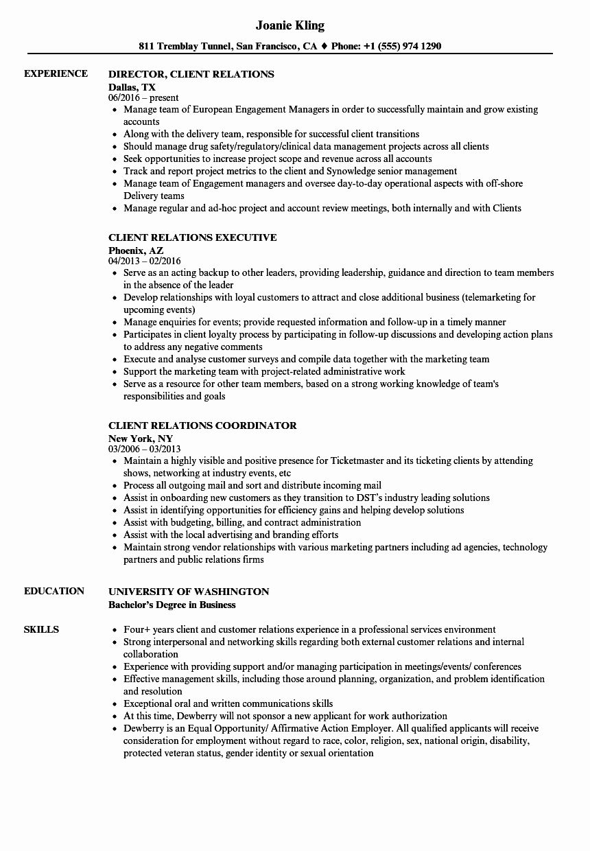 20 Customer Relationship Manager Resume Resume examples