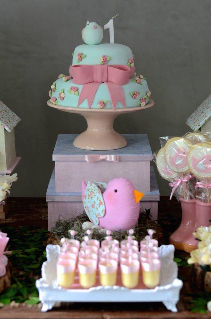 Little Bird Themed Birthday Party   Party ideas   Birthday ...