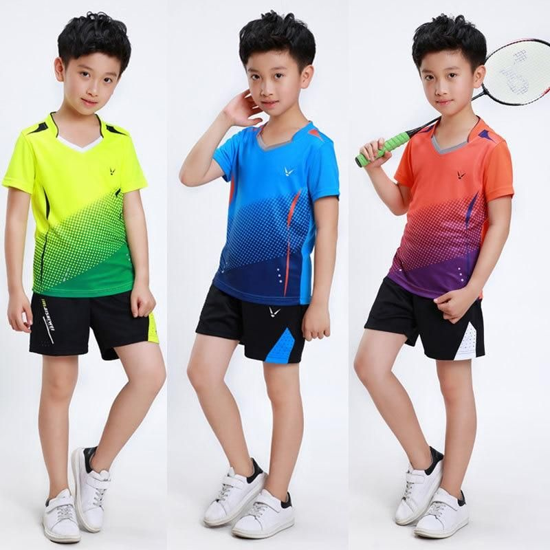Tennis Clothes For Children Badminton Shirts Kids Tennis Suits Table Tennis Clothes Ping Pong Set Kid Ta Tennis Shirts Badminton Shirt