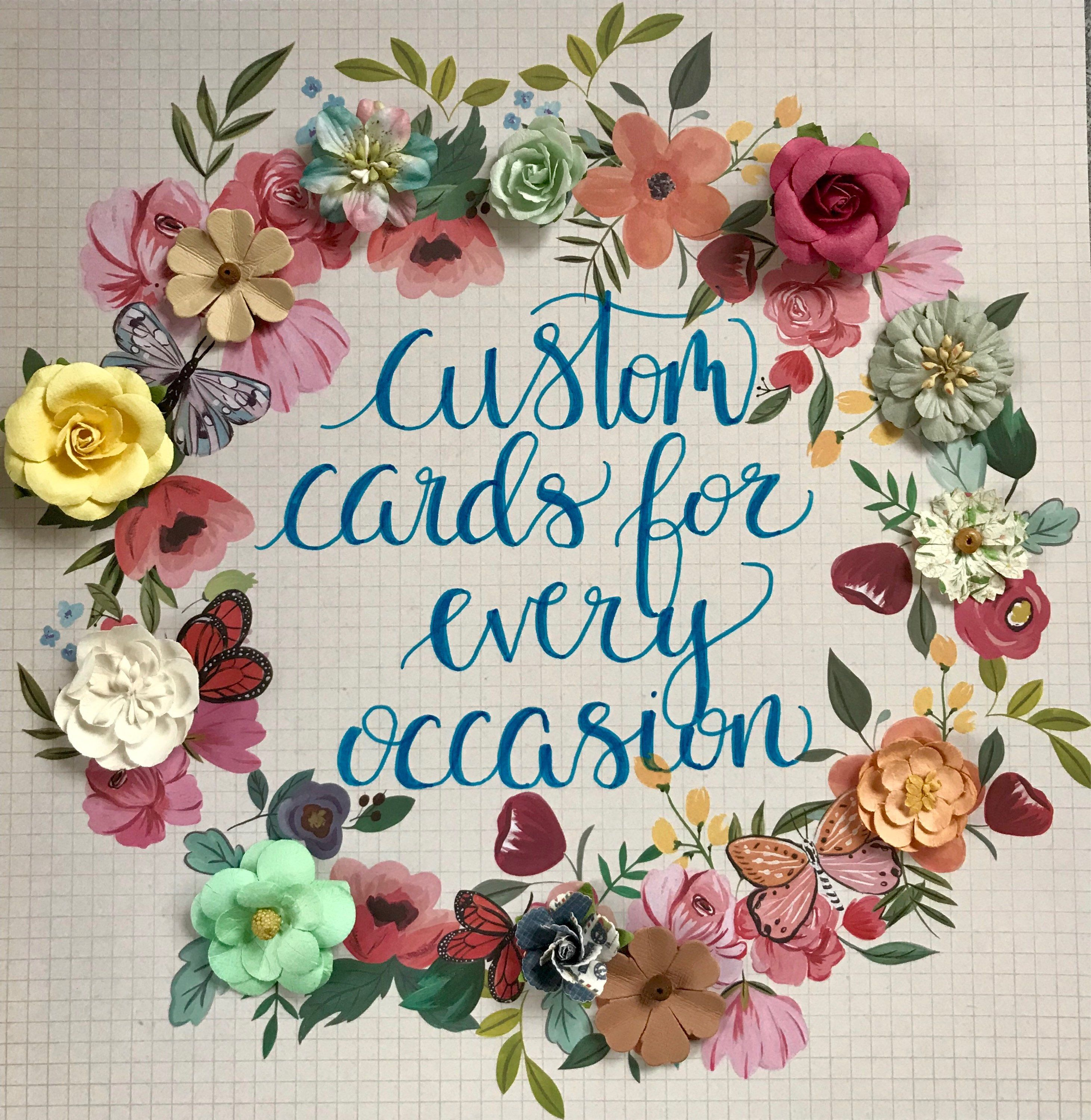 Custom Handmade Greeting Cards For Every Occasion From My Etsy Shop