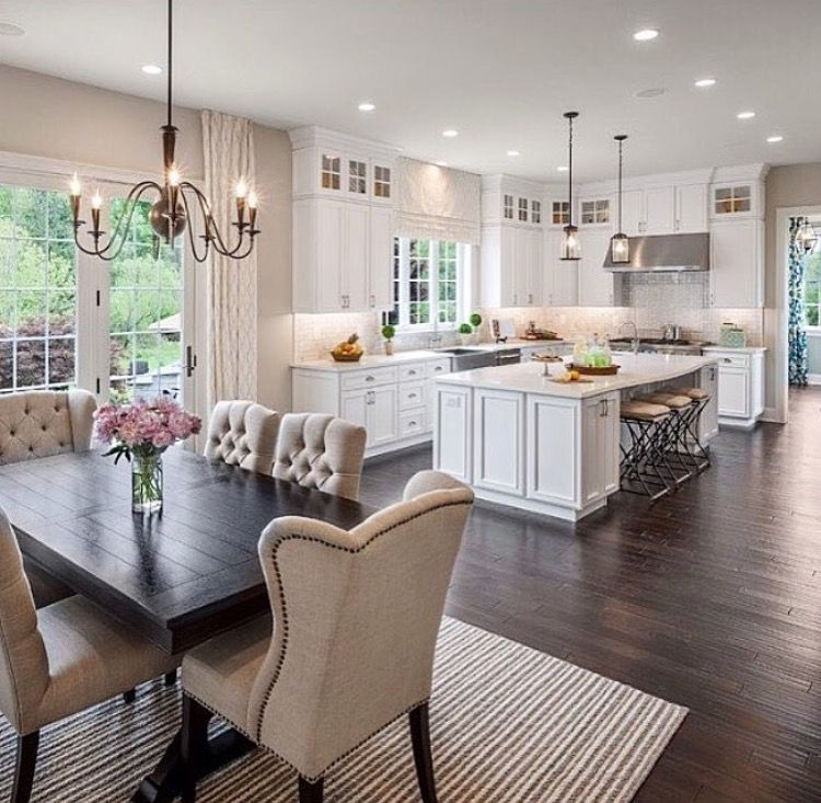 Kitchen Dining Room Flooring Adorable Kitchen Dining  Home  Pinterest  Kitchen Dining Dining And Review