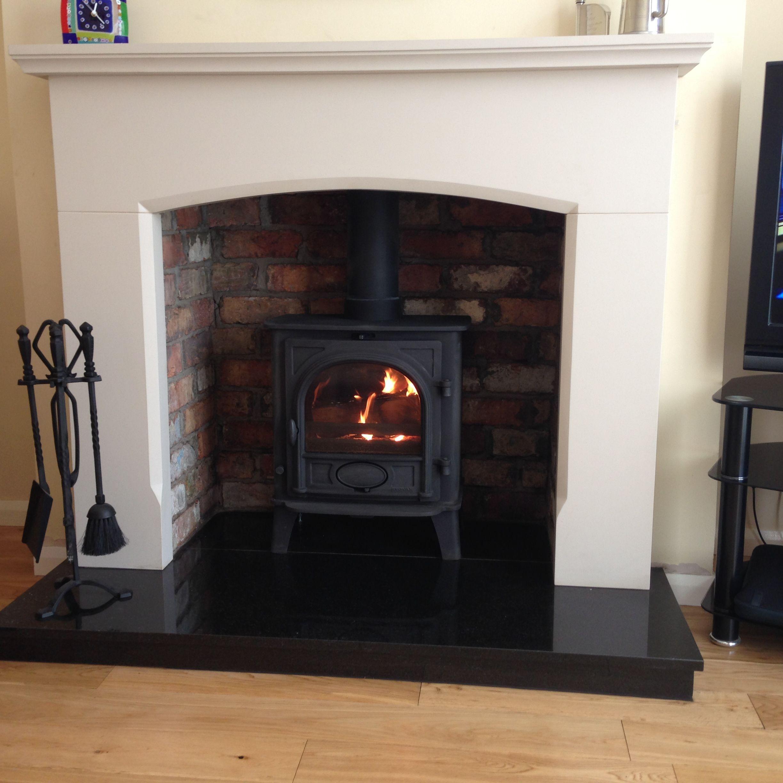 Stovax Stockton 5 With Belfast Brick Chamber Granite Hearth And