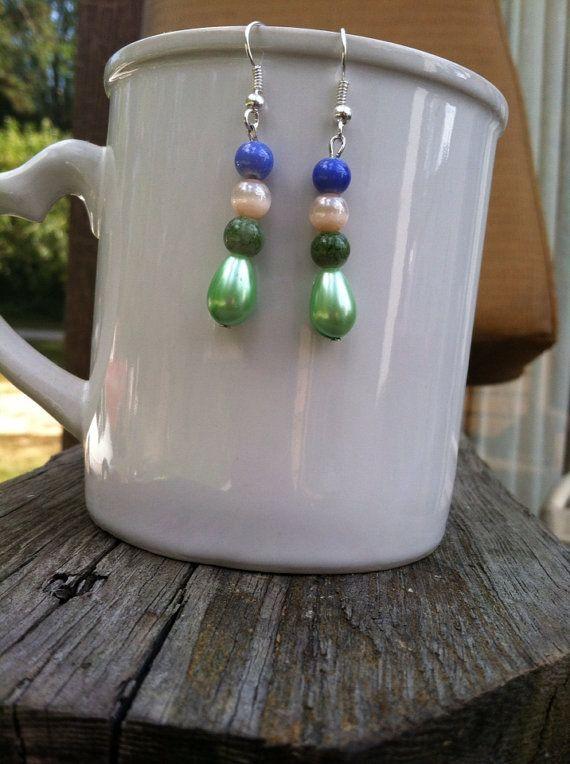 Beaded earrings on Etsy, $12.00