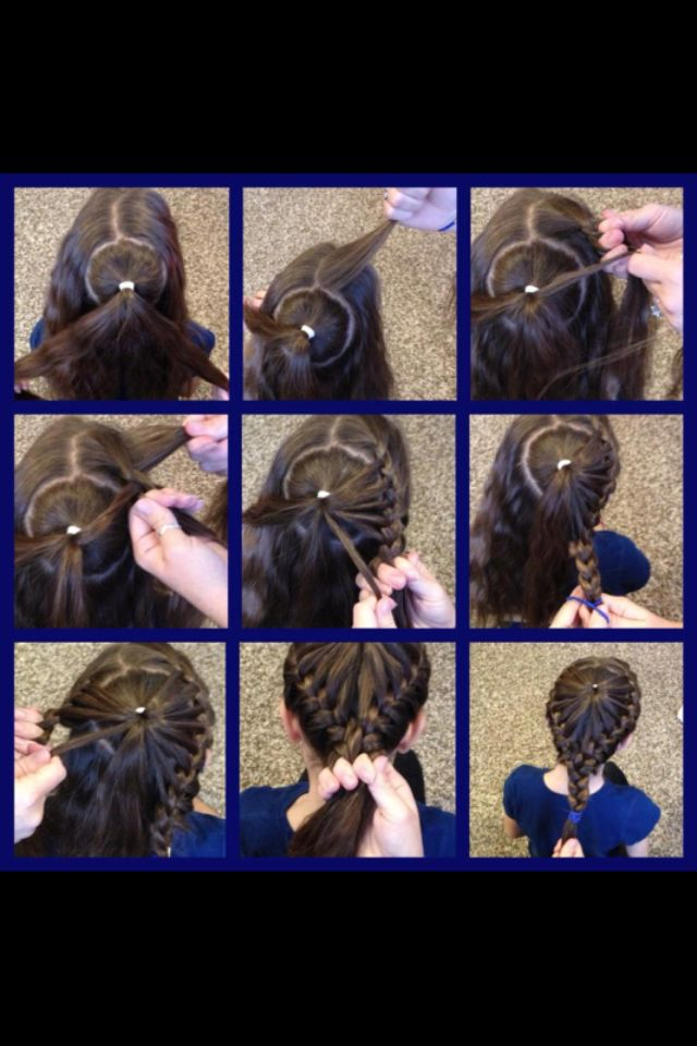 Cool hairstyle my family friend did!!! Cute for little girls!