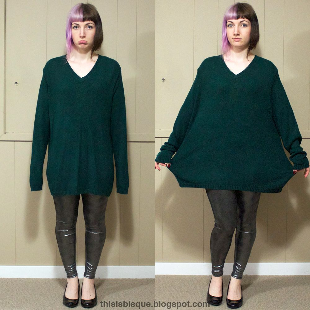 This is Bisque: DIY | Oversized Sweater Reconstruction | a needle ...