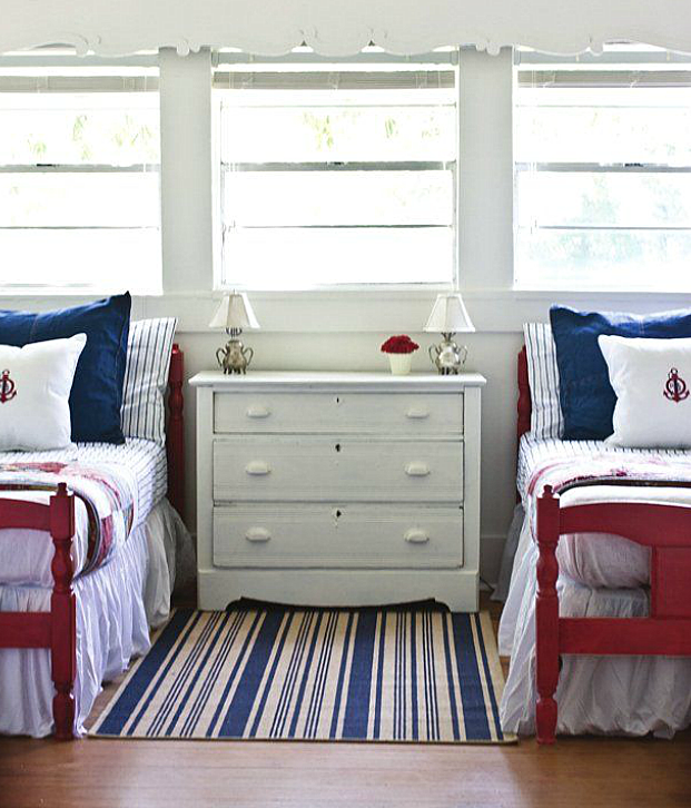 Bedroom Armoire Tv Kids Bedroom Paint Colors Low Bed Bedroom Blue Ceiling Bedroom: I Think This Is The Final Color Scheme. Paint The Twin Beds Red And The Rest Of The Furniture