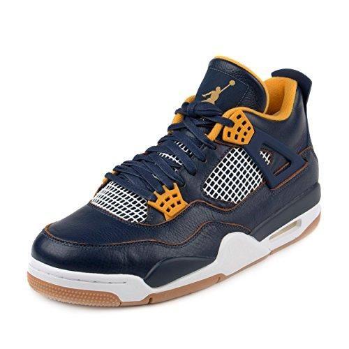 picked up low cost buy popular Nike Jordan Men's Air Jordan 4 Retro Mid Navy/Mtllc Gld/Gld ...