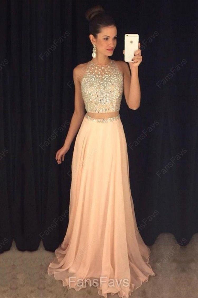 849eab5d496f Two Piece Prom Dresses Modest, Long Prom Dresses For Teens, A-line Prom  Dresses 2019, Elegant Prom Dresses Tulle #FansFavs #twopiecedresses  #promdresses2019 ...