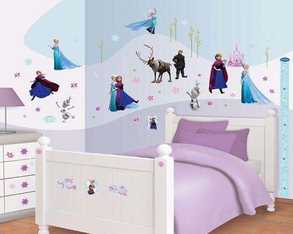 Muurstickers Slaapkamer Kind : Muursticker frozen disney decor kit kinderkamer