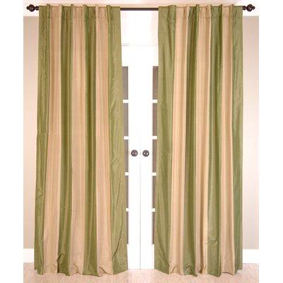 India S Heritage Striped Semi Sheer Rod Pocket Single Curtain
